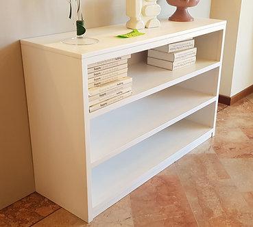 Libreria  bassa laccata bianca