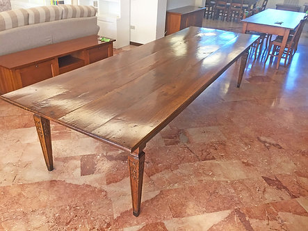 LQA016 - Tavolo originale antico in noce