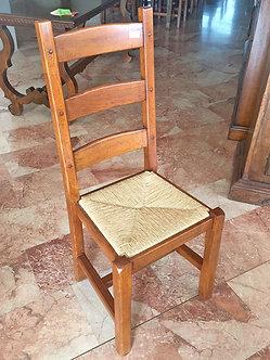 LQG085 - Sedia rovere rifinita con chiodi in legno ULTIMI PEZZI!!!
