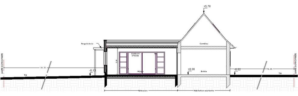 Extension cubique maison normande - E2A Construction