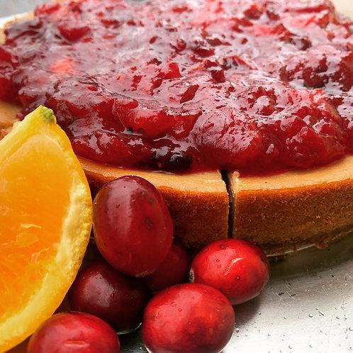 Gluten Free Cranberry Orange Cheesecake - Thanksgiving Only