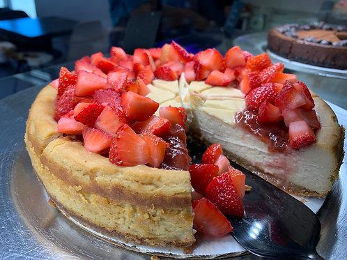 Key Lime Strawberry Cheesecake