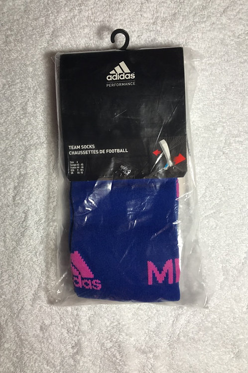 Navy Blue And Pink Game Socks