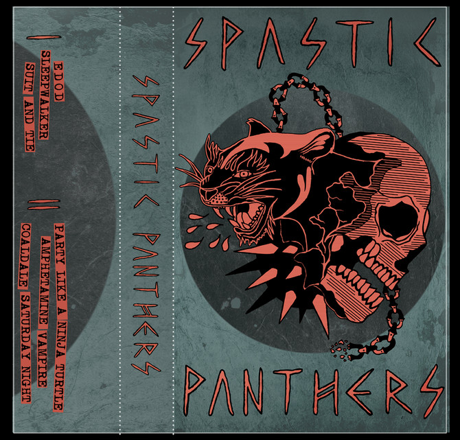 Spastic Panthers Tape Artwork