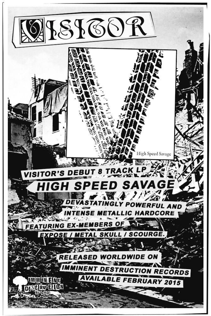 Promo Poster for Japanese Hardcore Punks, Visitor.