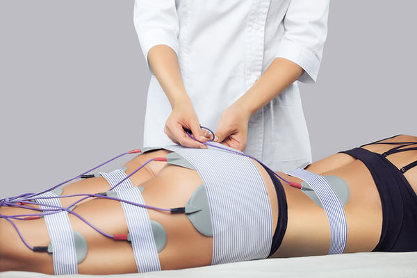 The procedure of myostimulation on the l