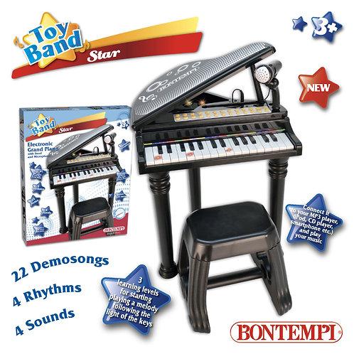 103000 PIANO ELETTRONICO 31 TASTI CON MICROFONO E SGABELLO