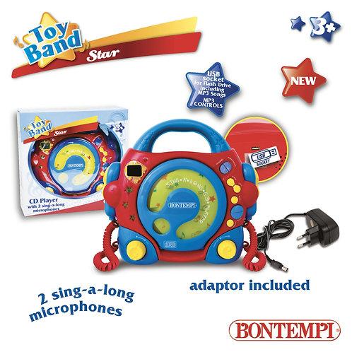 439980 LETTORE CD MP3 CON 2 MICROFONI