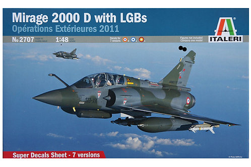 2707 - MIRAGE 2000D WITH LGB'S 1:48