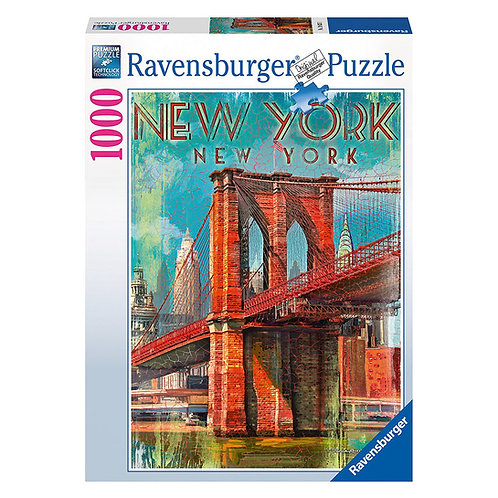 PUZZLE 1000 PEZZI RETRO NEW YORK 19835