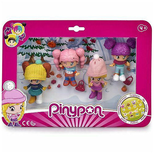 PINYPON SET 4 PERSONAGGI SKI 15771
