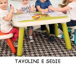 Tavolini e sedie