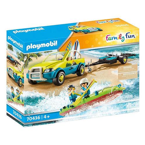 70436 AUTO DA SPIAGGIA CON RIMORCHIO PER CANOA