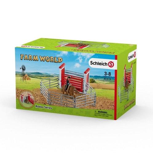 41419 TORO DA RODEO CON COWBOY