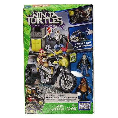 TURTLES MEGA BLOKS MOTO ATTACK DPW10