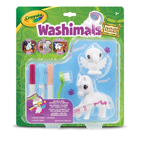 WASHIMALS SET SAFARI TUCANO E ZEBRA 74-7364