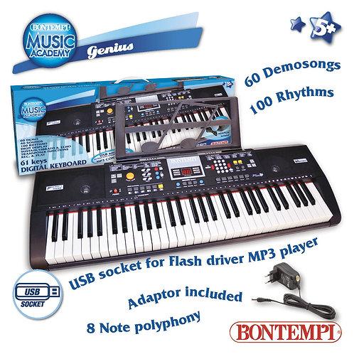 166115 TASTIERA DIGITALE 61 TASTI CON USB
