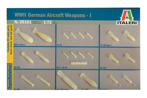 26101 - WWII GERMAN AIRCRAFT WEAPONS 1:72