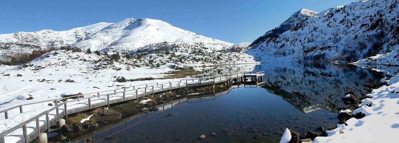L'étang de l'Hers en Janvier.