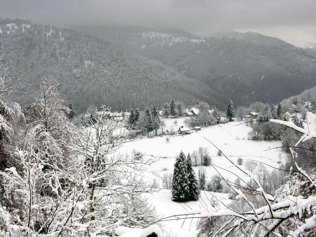 La vallée en Février