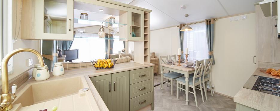 Atlas Debonair Luxury Lodge Kitchen Royal Arch Riverside Park