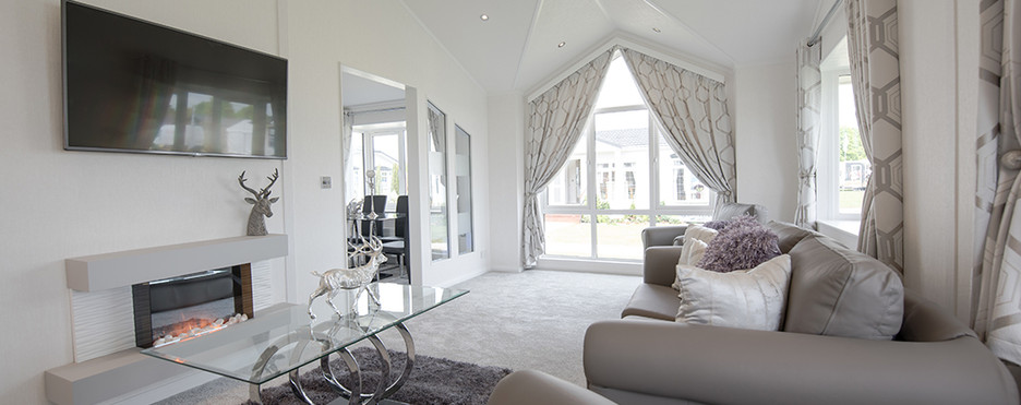 kensington luxury lodge cosy fireplace Royal Arch Park Aberdeenshire