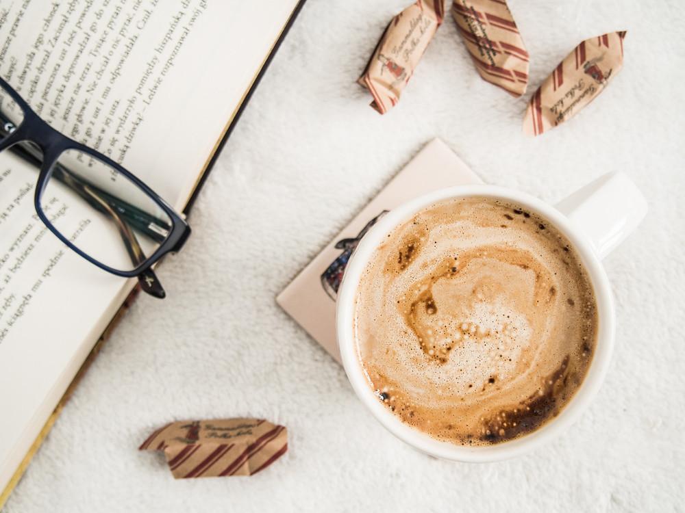 Coffee to keep me awake until I'd finished!