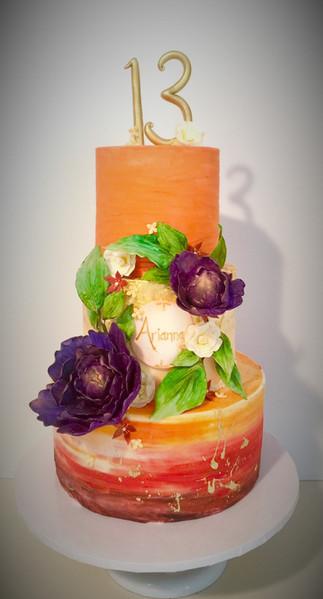 13th Birthday Orange Cake