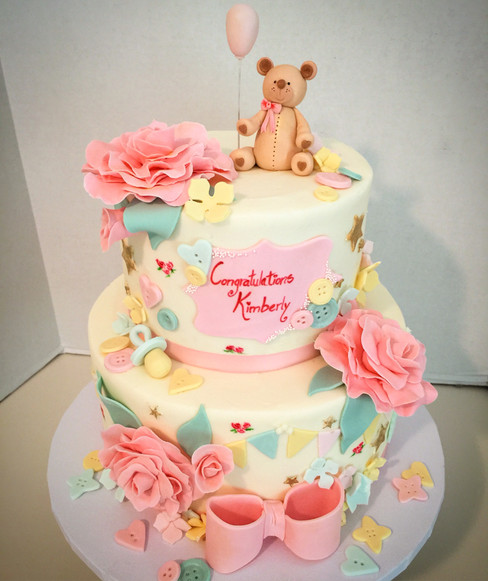Baby Bear Shower Cake