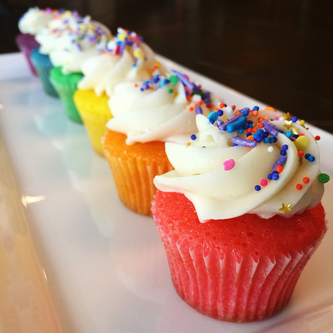 Rainbow Mini Cupcakes