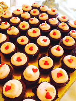 Strawberry Red Velvet Mini Cupcakes