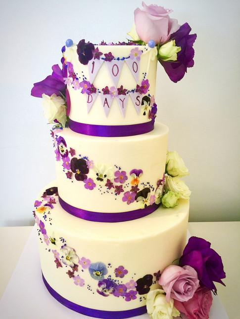 100 Day Celebration Cake