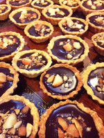Chocolate Mac-Nut Tartlets