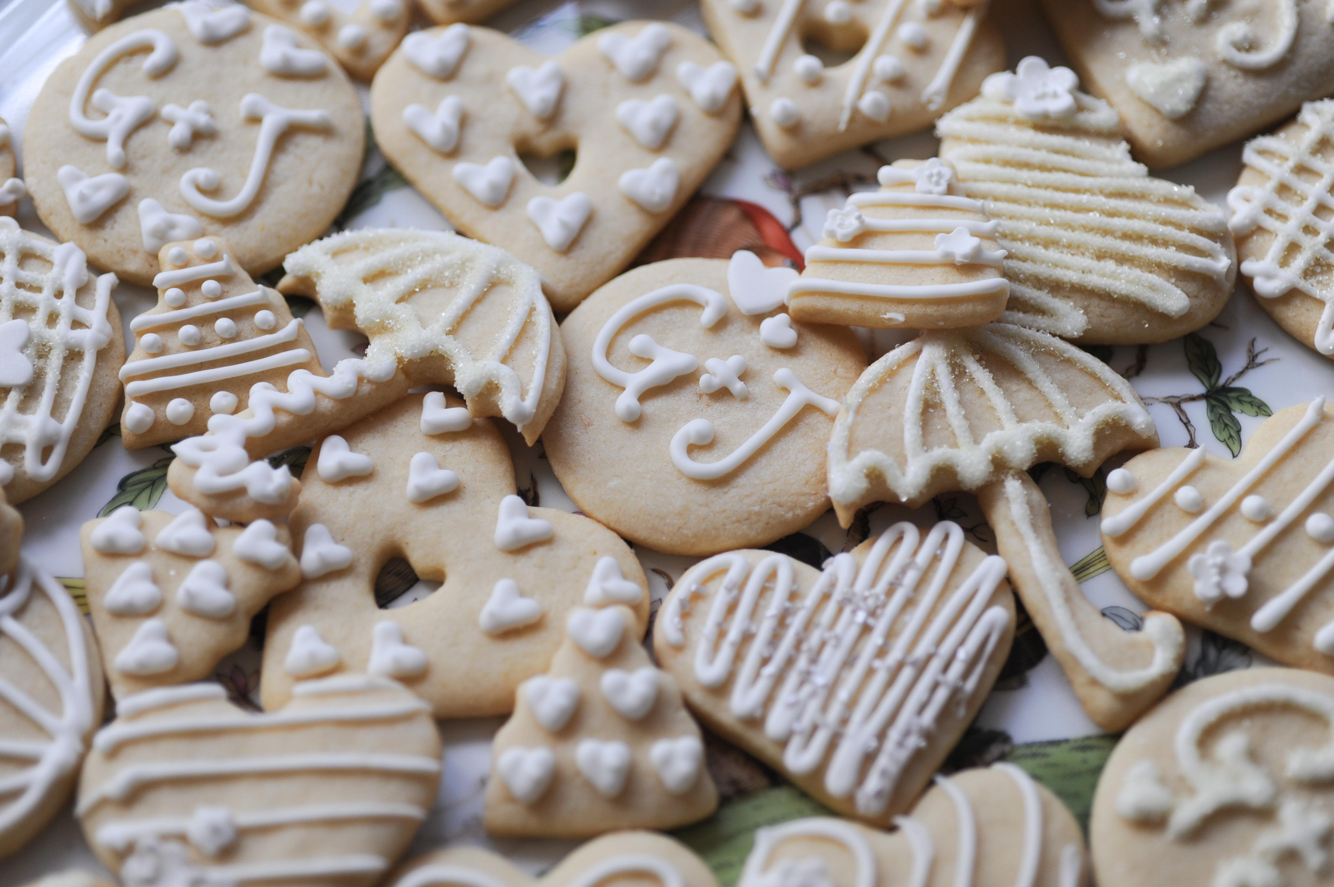 Monogramed Tea Cookies