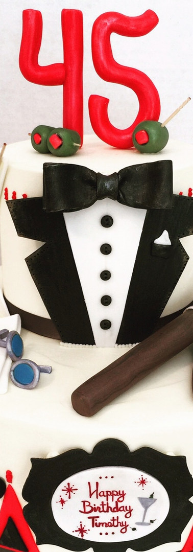 Mad Men Birthday Cake