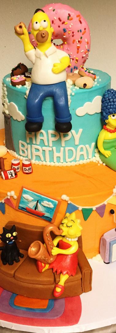 Simpsons Birthday Cake!