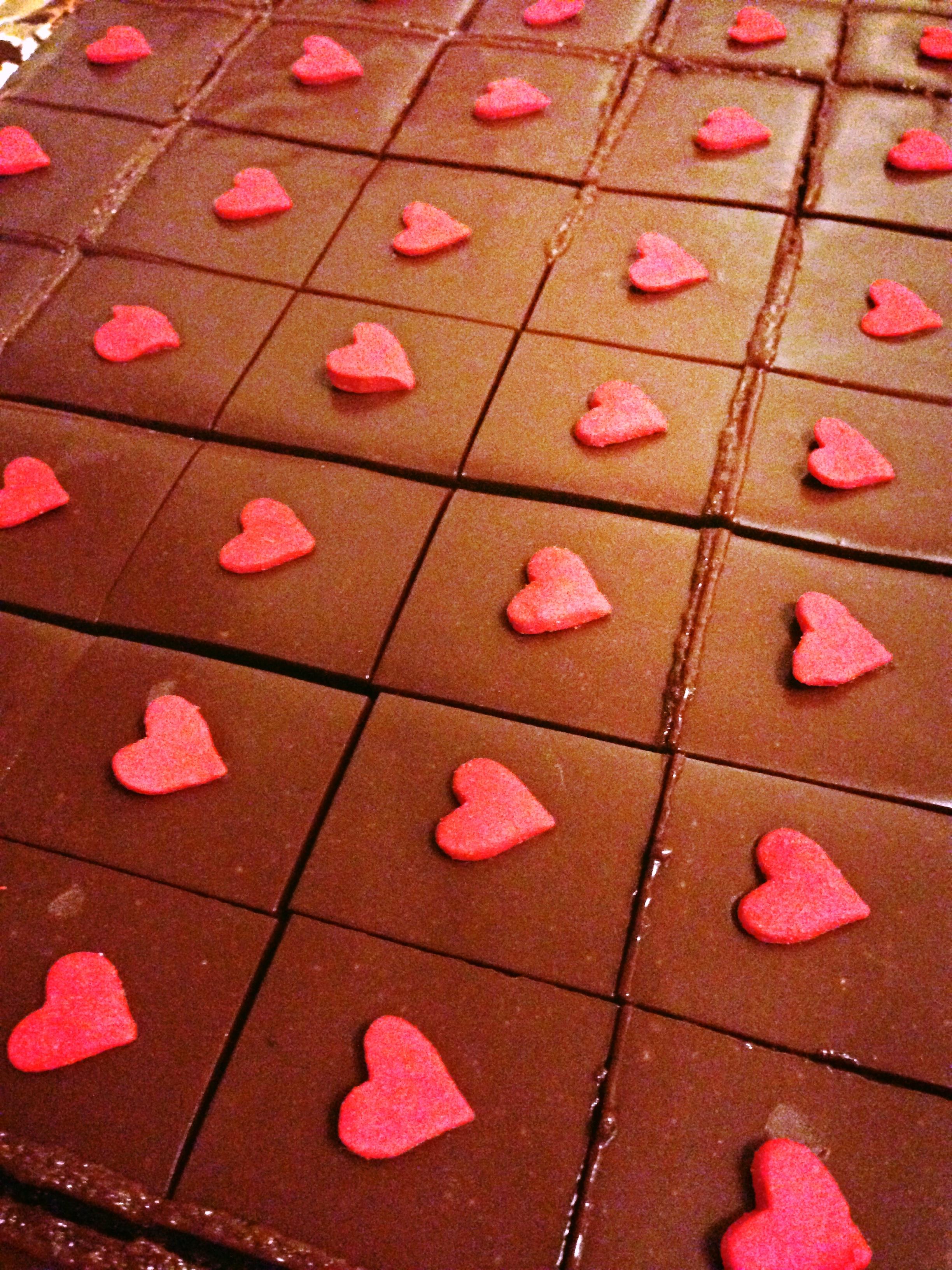 Ganached Mini Brownies