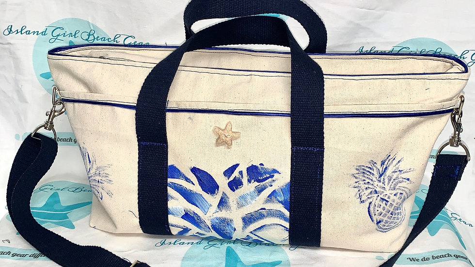 Hand painted Signature canvas tote bag