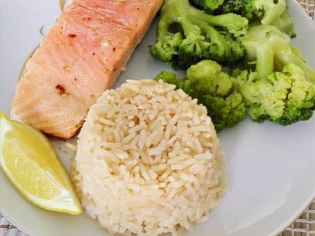 Salmon, Broccoli, and Rice