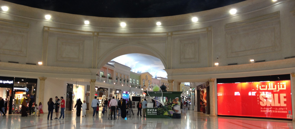 Doha, Qatar - The Villaggio Mall and the Landmark Shopping Mall (Qatar 2016 Series #6)