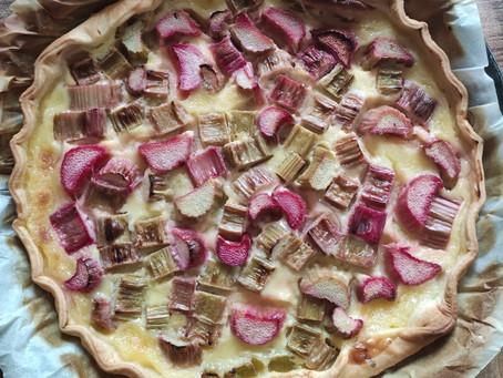 Rhubarb Tart | Tarte à la Rhubarbe