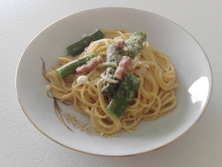 Asparagus and French Lardons One-Pot Pasta