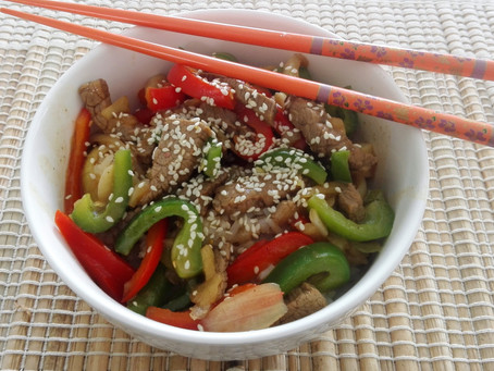 Beef and Bell Pepper Stir-Fry