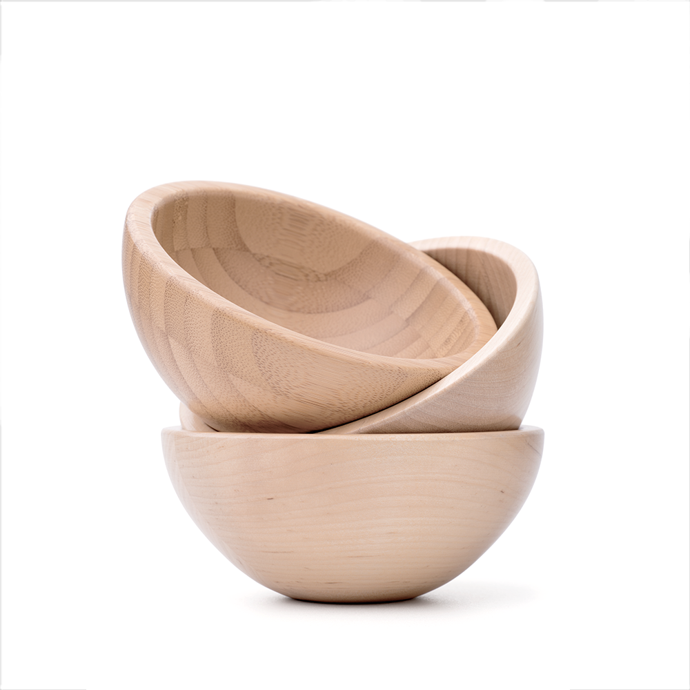 Three Wooden Bowls