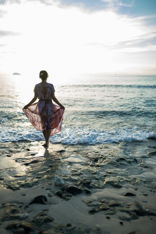 Bali - séta a parton