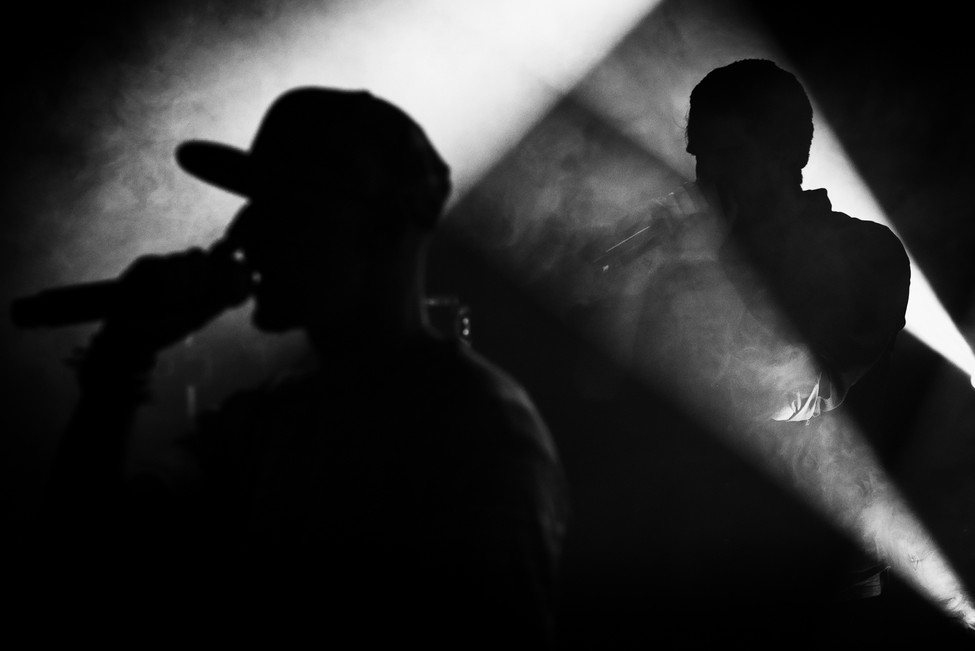 artistic photo of an mc duo