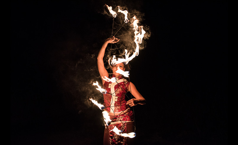 picture of a fire circus performance