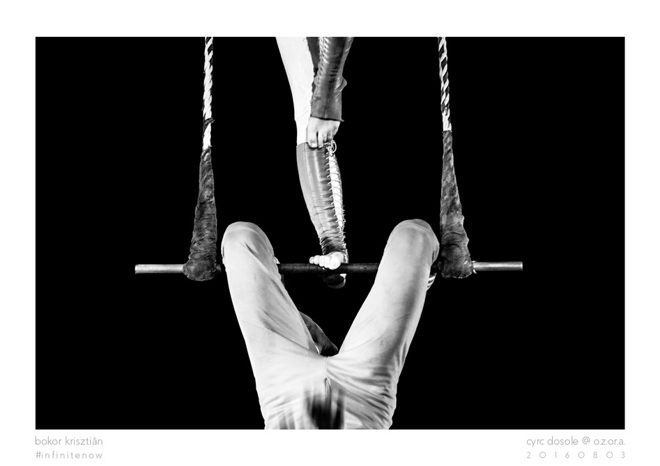 BW photo of a circus performance