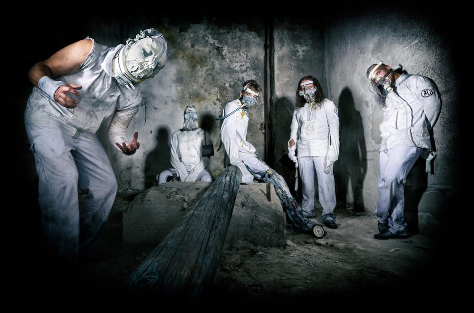 band photo of a metal band