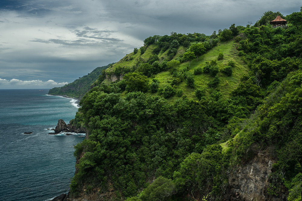 Bali tengerpart látképe